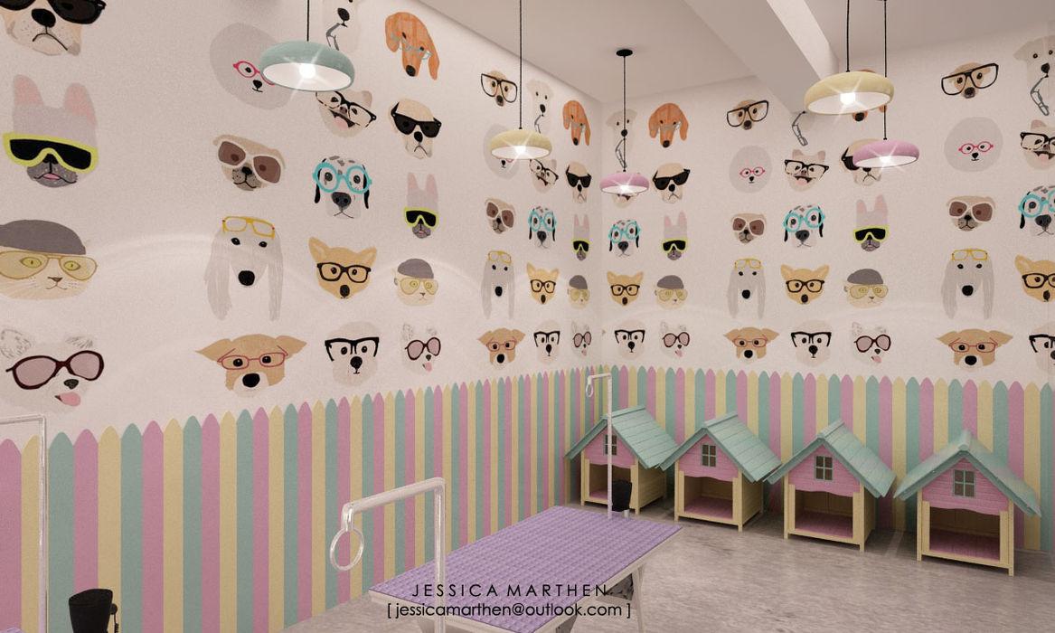 Cloudy & Cotton Pet Grooming & Coffee Shop, Lippo Mall Puri JESSICA DESIGN STUDIO Spa