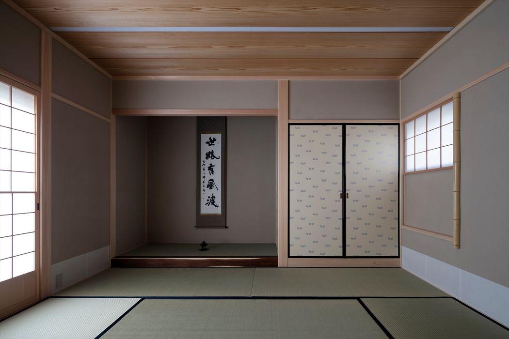青葉町の家 吉川弥志設計工房 モダンデザインの 多目的室