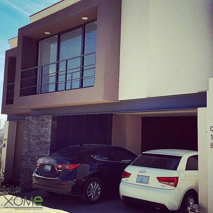 Xome Arquitectos Modern Houses Stone Brown