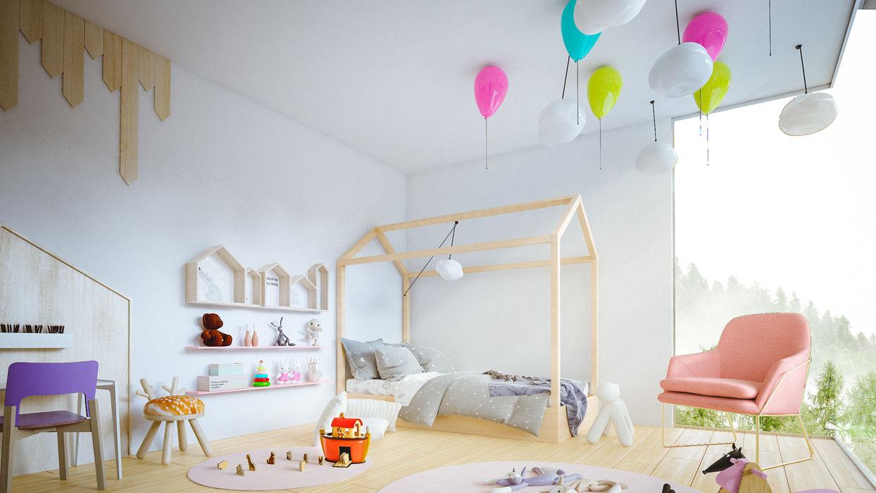 casa vega Adrede Arquitectura Habitaciones para niños de estilo moderno