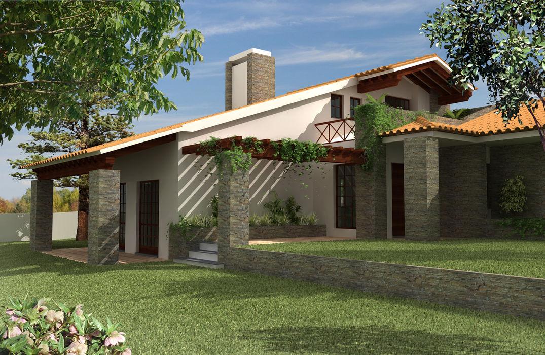 Moradia em São João, Arganil Pedro de Almeida Carvalho, Arquitecto, Lda Casas de campo Pedra Branco