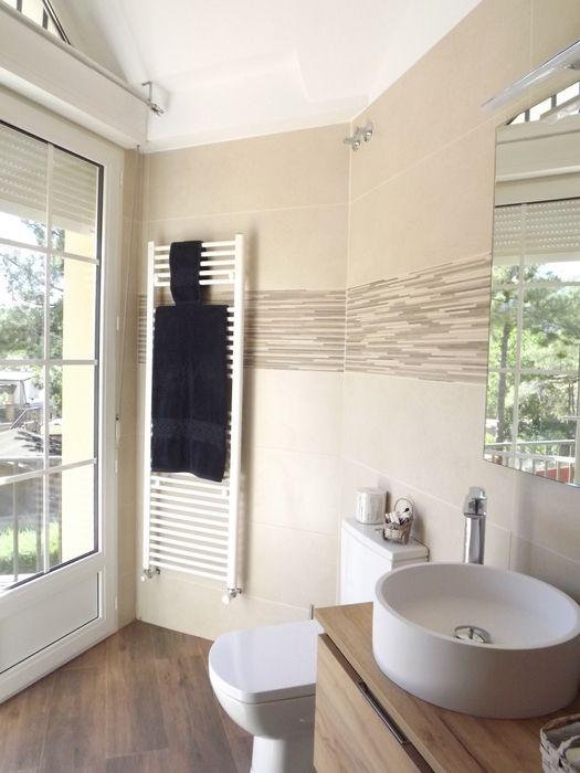 Reforma baño contemporáneo Almudena Madrid Interiorismo, diseño y decoración de interiores Baños de estilo moderno Cerámico Beige