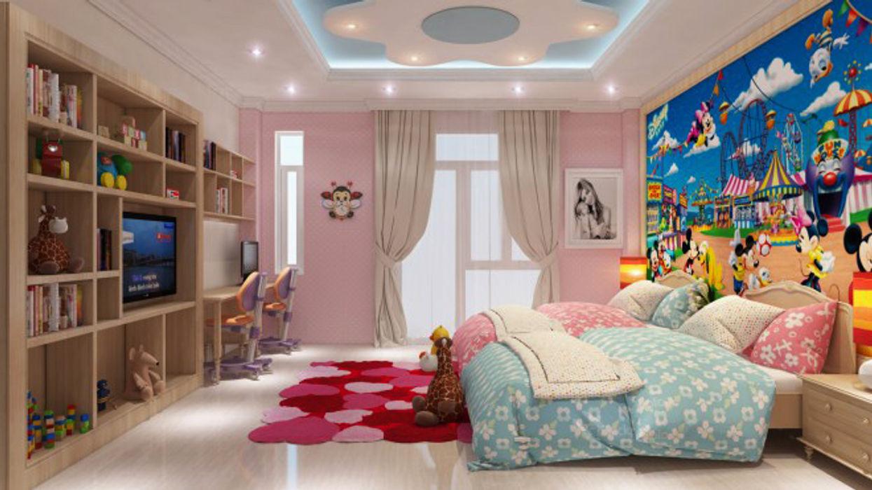 Hình ảnh 3D thiết kế nội thất Công ty TNHH Xây Dựng TM – DV Song Phát Phòng ngủ phong cách hiện đại