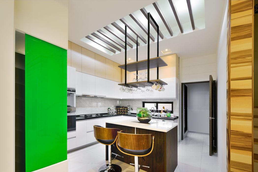 新竹寶山鄉 葉公館 築室室內設計 現代廚房設計點子、靈感&圖片