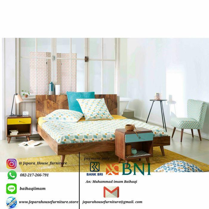 jeparahousefurniture BedroomBeds & headboards Wood Wood effect