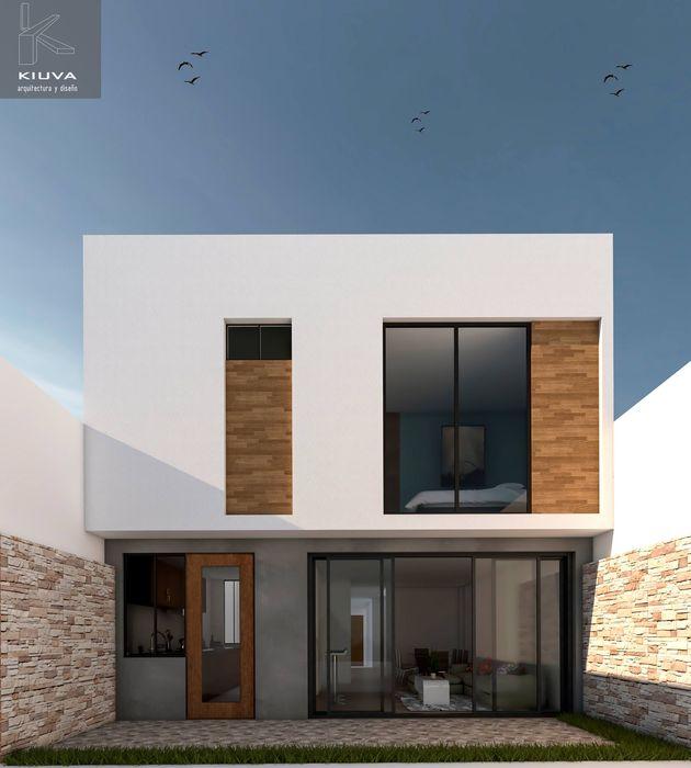 Kiuva arquitectura y diseño Anexos de estilo moderno Madera Acabado en madera