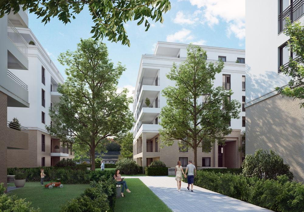 Wohnanlage in Frankfurt a.M. winhard 3D Moderne Häuser