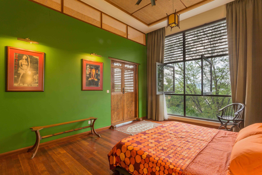 MJ Kanny Architect Tropische Schlafzimmer