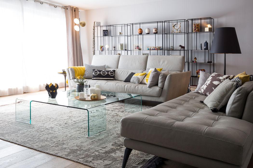 Appartement Wilson - Bordeaux Julie Chatelain Salon moderne