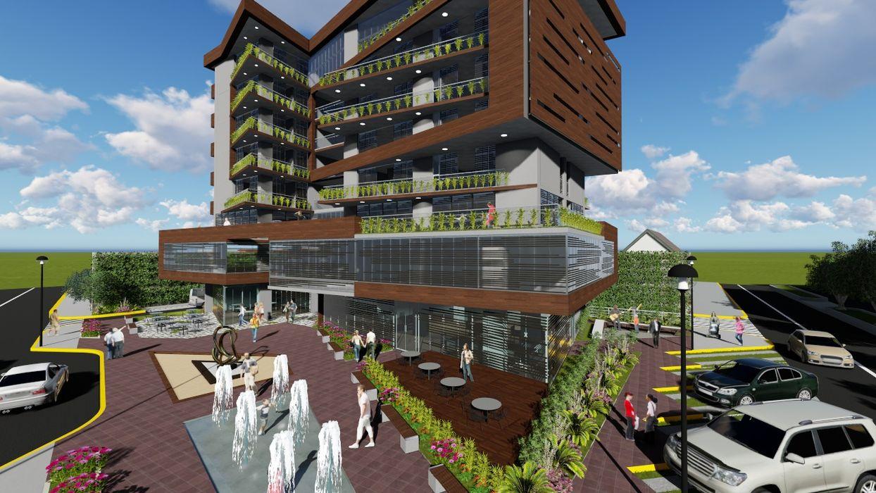 Vista exterior Vida Arquitectura Casas multifamiliares Hierro/Acero