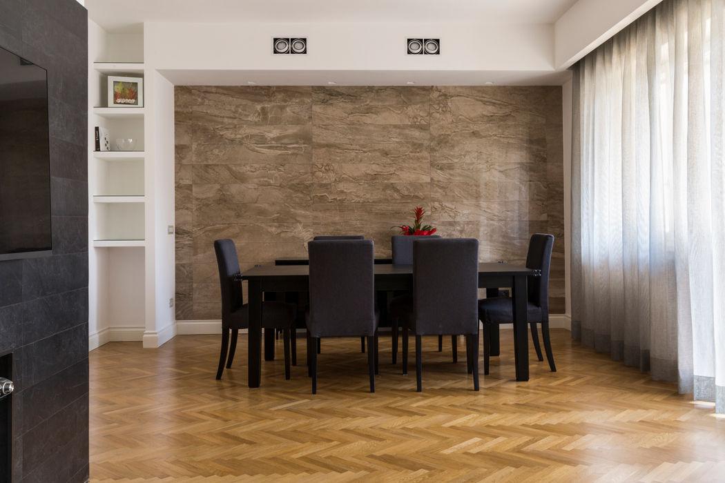 APPARTAMENTO ZONA BALDUINA a2 Studio Borgia - Romagnolo architetti Sala da pranzo moderna