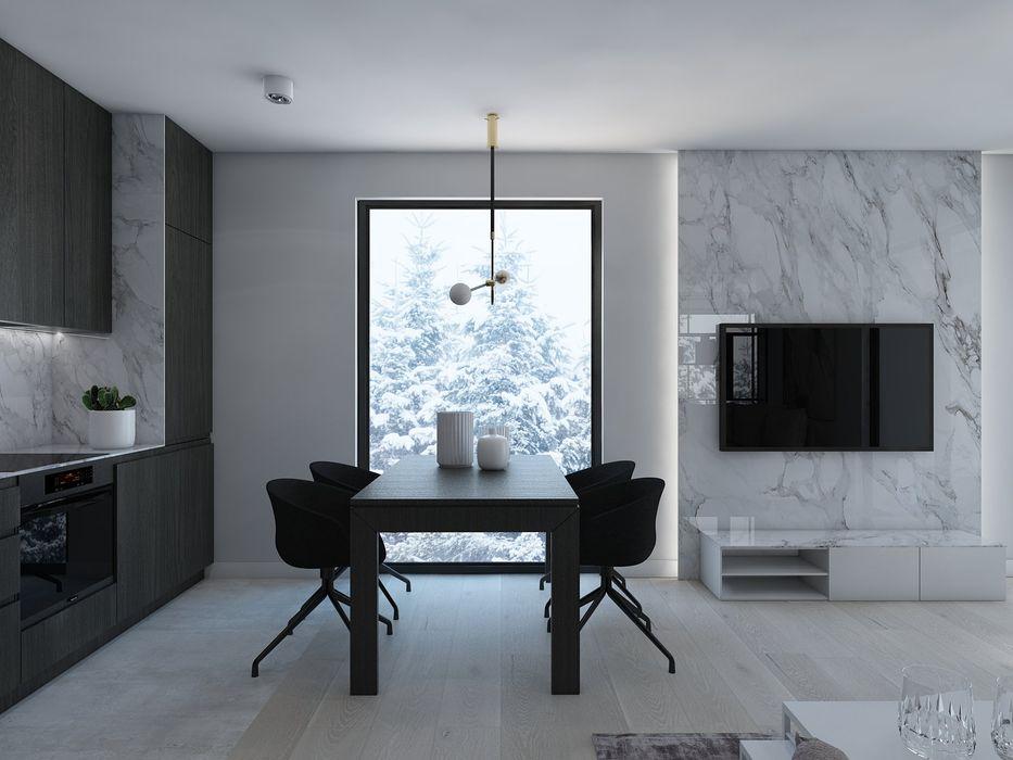 UTOO-Pracownia Architektury Wnętrz i Krajobrazu Modern dining room