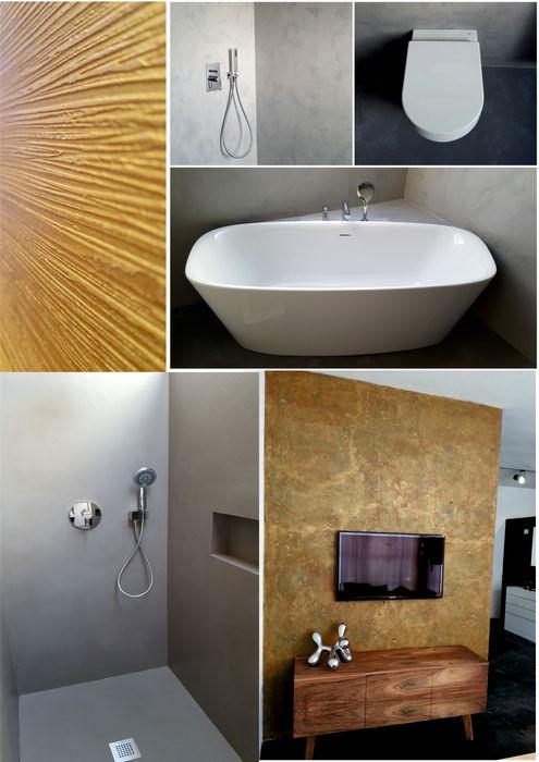 Wand- und Bodengestaltungen luanna design Moderne Wände & Böden Beton Grau