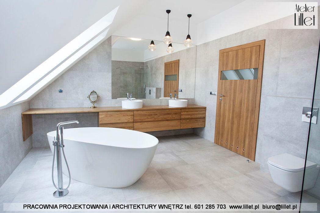 Realizacja salonu kąpielowego Pracownia projektowa Atelier Lillet Nowoczesna łazienka