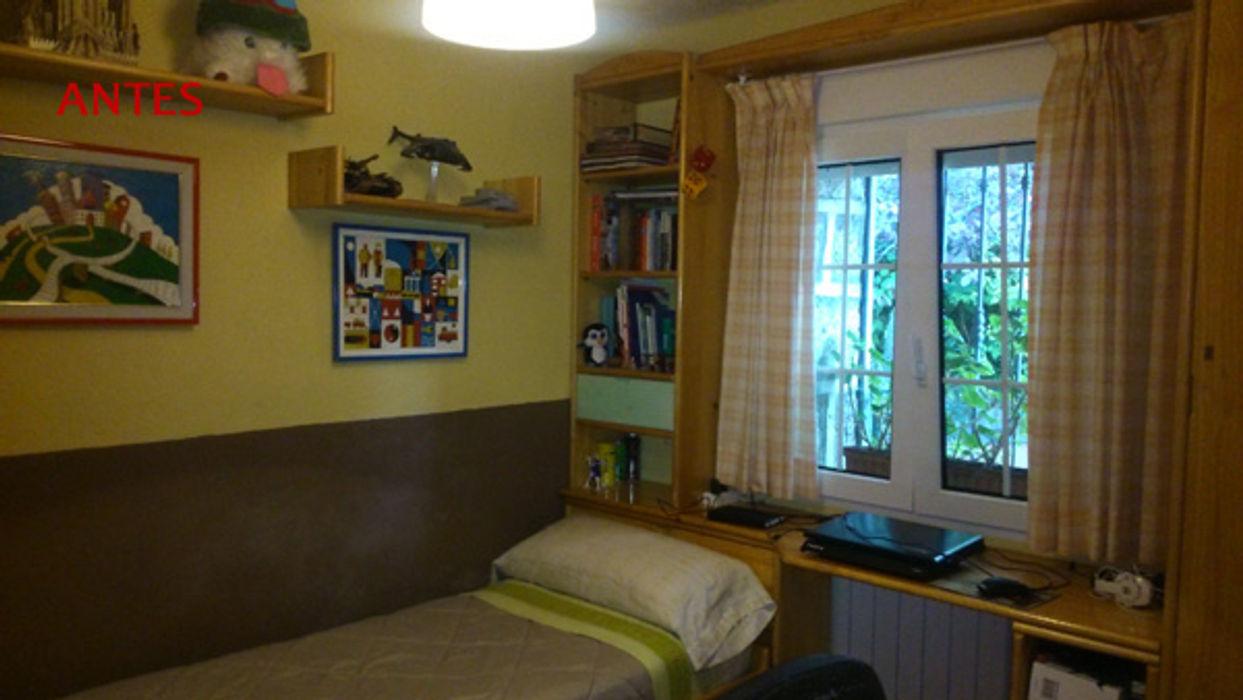 dormitorio antes Almudena Madrid Interiorismo, diseño y decoración de interiores Dormitorios de estilo clásico