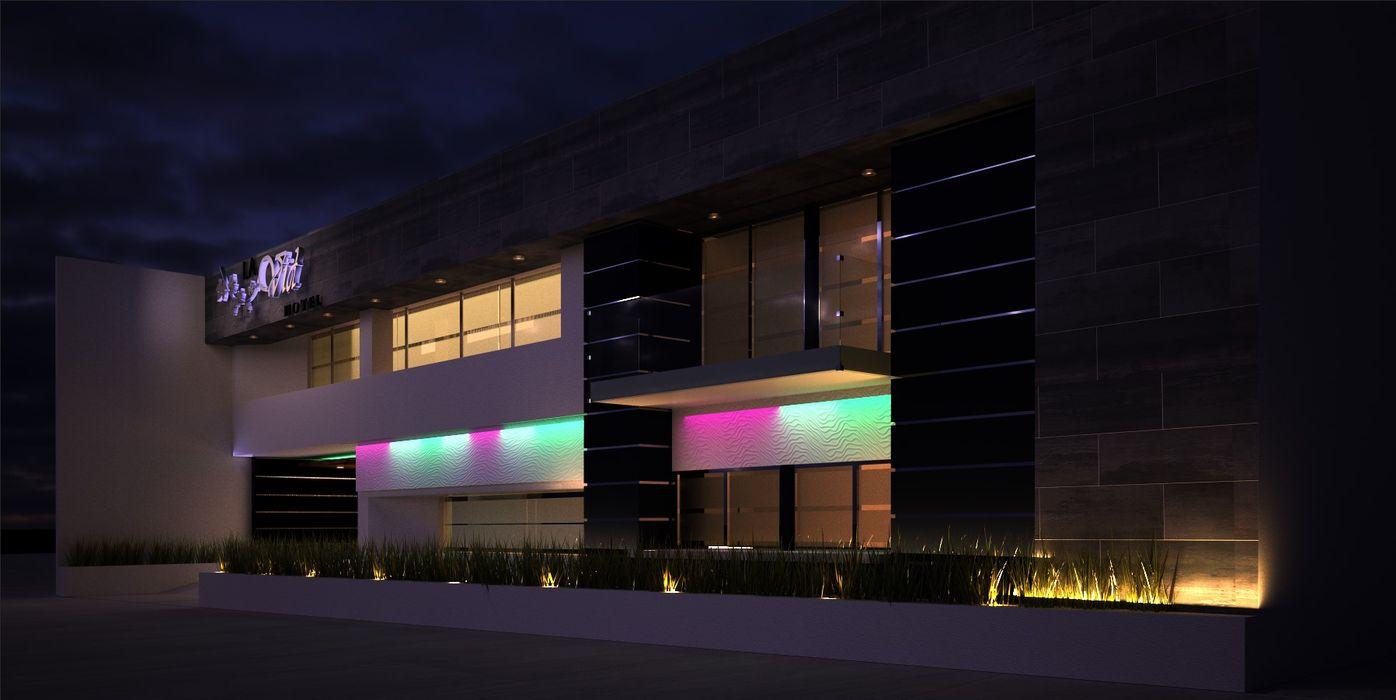 hotel A-labastrum arquitectos Hoteles de estilo moderno Cerámico Blanco