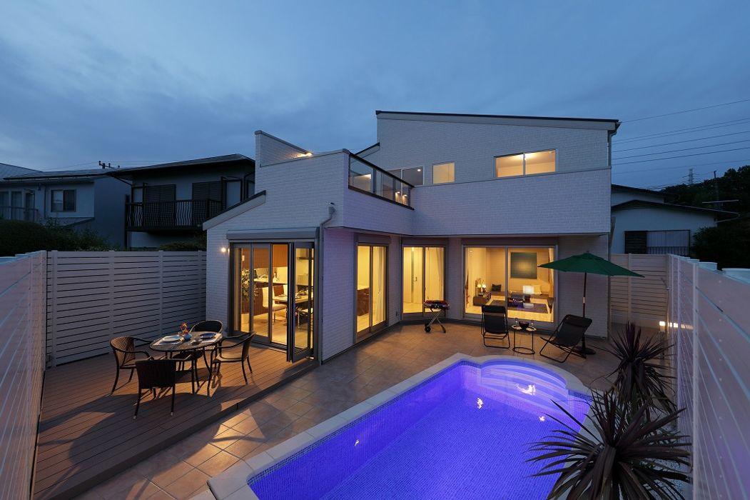 川崎市麻生区のプールのあるリゾート空間住宅 PROSPERDESIGN ARCHITECT /プロスパーデザイン 家庭用プール