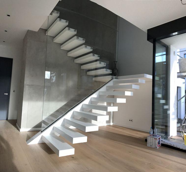 Treppe aus Corian Siller Treppen/Stairs/Scale Treppe Marmor Weiß