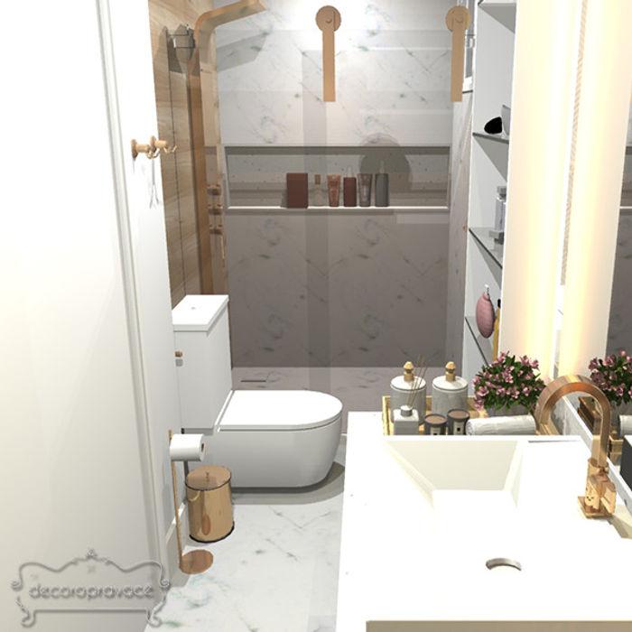 Banheiro casal Luxo Decoropravocê - Decoração ao seu alcance. Banheiros modernos