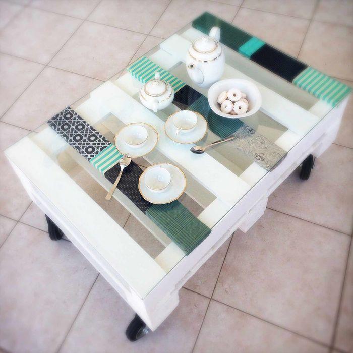 Soft table Revì Art - Upcycling Furniture Design Negozi & Locali Commerciali Legno Bianco