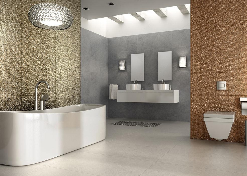 Porcelanato brillante en 3D Kavana Revestimientos Paredes y pisosRevestimientos de paredes y pisos