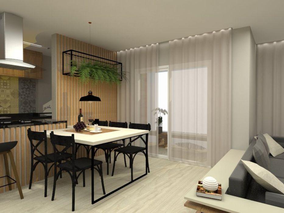 Sala de Jantar Bruna Ferraresi Salas de jantar modernas MDF Preto