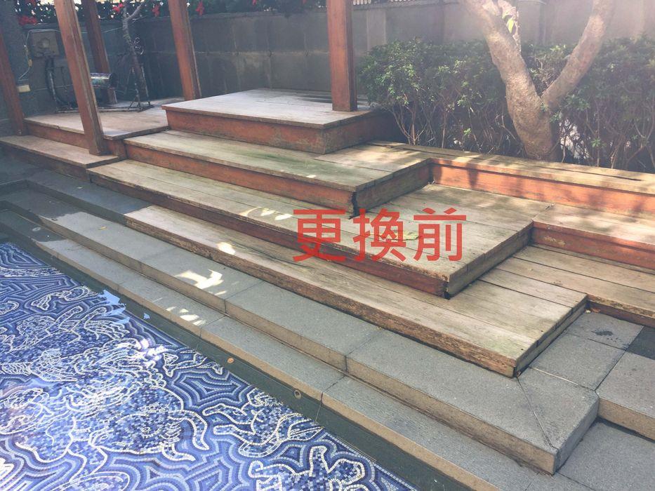 台北市─蒙特梭利幼兒園 新綠境實業有限公司 前院 塑木複合材料 Wood effect