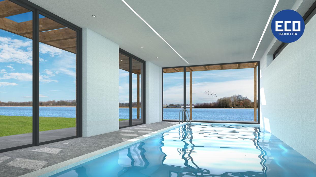 Villa met zwembad Lent ECO architecten Moderne zwembaden