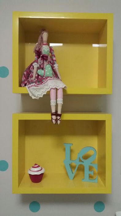 Rita Corrassa - design de interiores Çocuk OdasıAksesuarlar & Dekorasyon Sarı