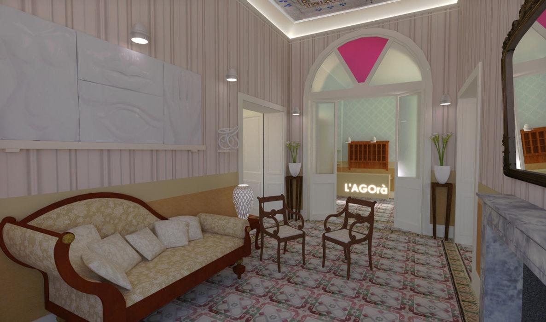 La hall di ingresso Ing. Massimiliano Lusetti Ingresso, Corridoio & Scale in stile classico
