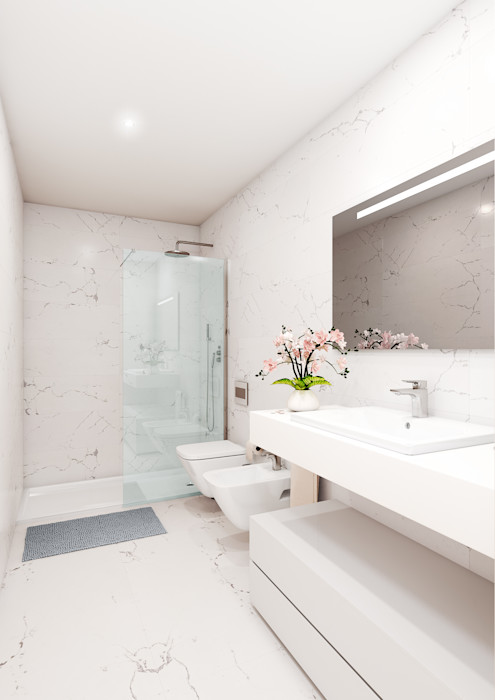 Edifício Horizonte Marvic Projectos e Contrução Civil Casas de banho modernas