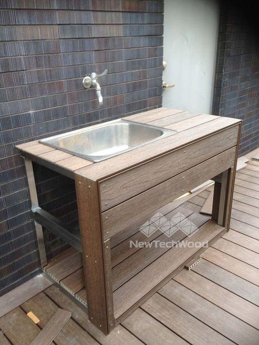訂製款NewTechWood洗手台 新綠境實業有限公司