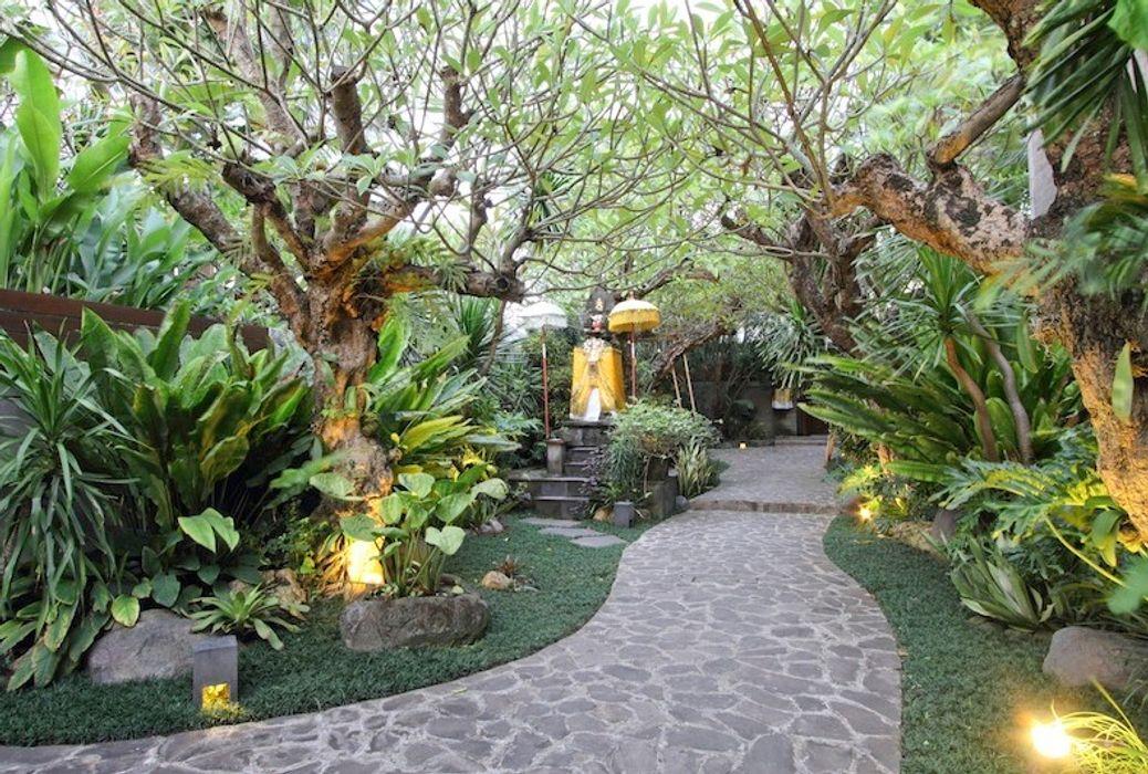 Model Taman Bali Tukang Taman Surabaya - Tianggadha-art Kolam taman Batu Bata Green