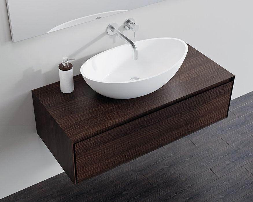Badeloft - Badewannen und Waschbecken aus Mineralguss und Marmor Ванна кімнатаЗберігання Дерево Коричневий