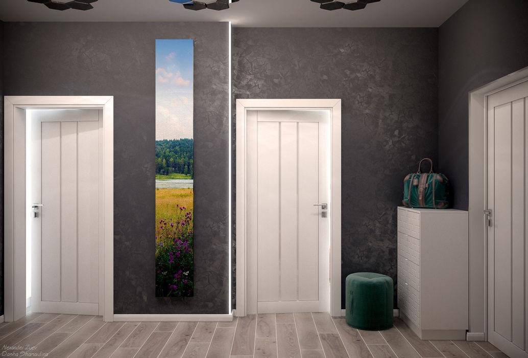 Дизайн коридора в 2-х комнатной квартире по ул. Дальняя, г.Краснодар Студия интерьерного дизайна happy.design Коридор, прихожая и лестница в модерн стиле