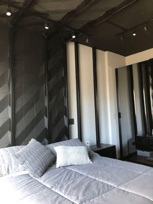 Guaraúna Revestimentos Camera da lettoAccessori & Decorazioni Cemento Nero
