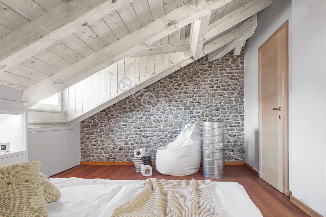 CARTA DA PARATI Eversivo Camera da letto minimalista Pietra Bianco