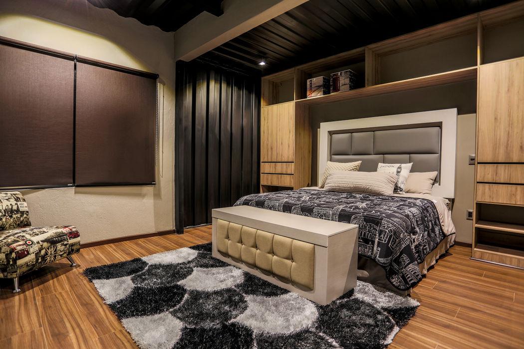 Proyecto Cajititlan, Jalisco. Con Contenedores S.A. de C.V. Dormitorios modernos