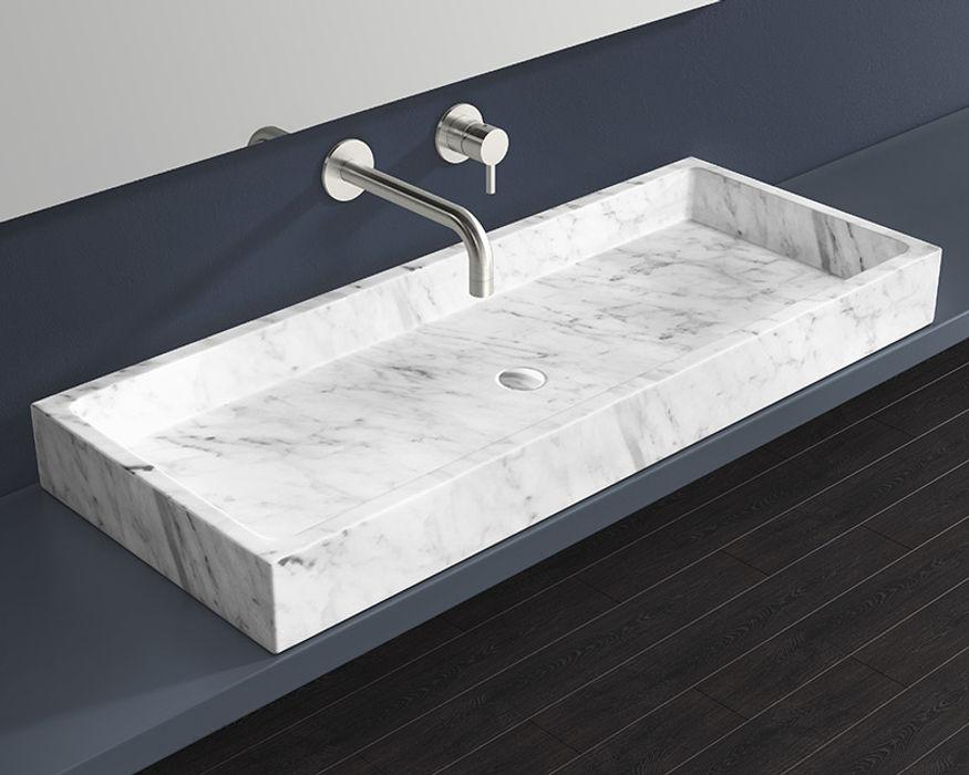Marmor Waschbecken MWB-01-XL Badeloft - Badewannen und Waschbecken aus Mineralguss und Marmor BadezimmerWaschbecken Marmor