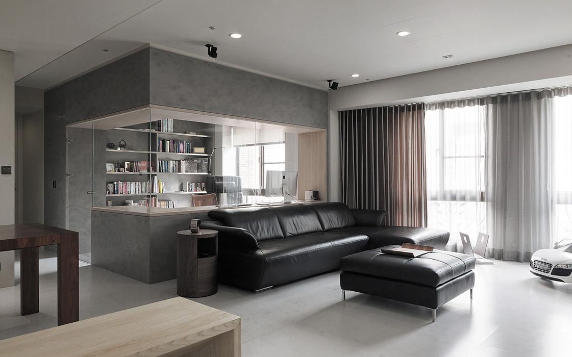 昇陽之道_灰石 形構設計 Morpho-Design 现代客厅設計點子、靈感 & 圖片
