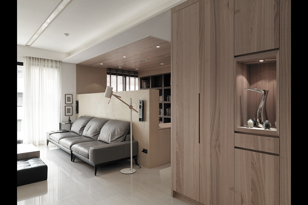 翰林院 形構設計 Morpho-Design 現代風玄關、走廊與階梯