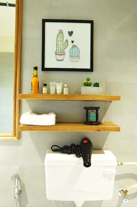 Air bnb C-scheme Jaipur flamingo architects Modern bathroom