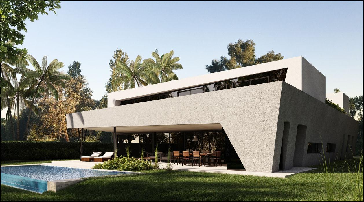 ESTILO MODERNO DE VANGUARDIA Maximiliano Lago Arquitectura - Estudio Azteca Casas modernas: Ideas, imágenes y decoración