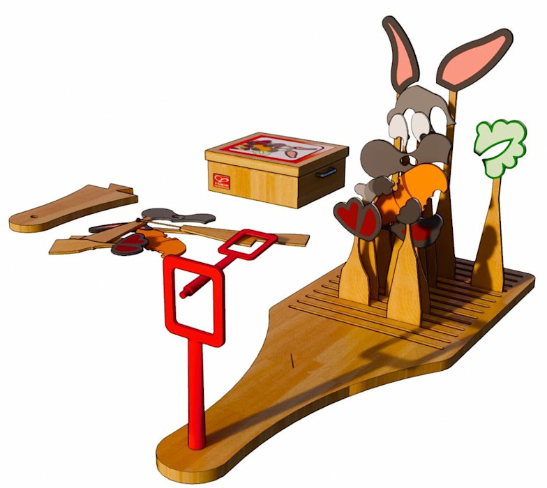 Le lapin anamorphose Frédéric TABARY Chambre d'enfantsJouets