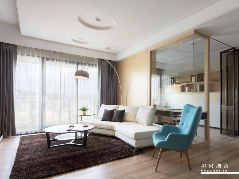 橙果創意國際設計 橙果創意國際設計 现代客厅設計點子、靈感 & 圖片