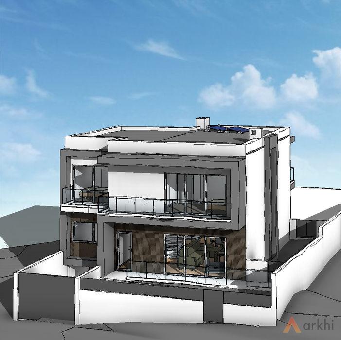 Moradia unifamiliar - Almada arkhi - arquitetura Moradias Pedra Cinzento