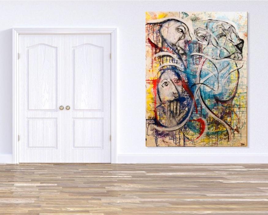 Abstrakte Kunst Freie Kunst Moderne Wohnzimmer