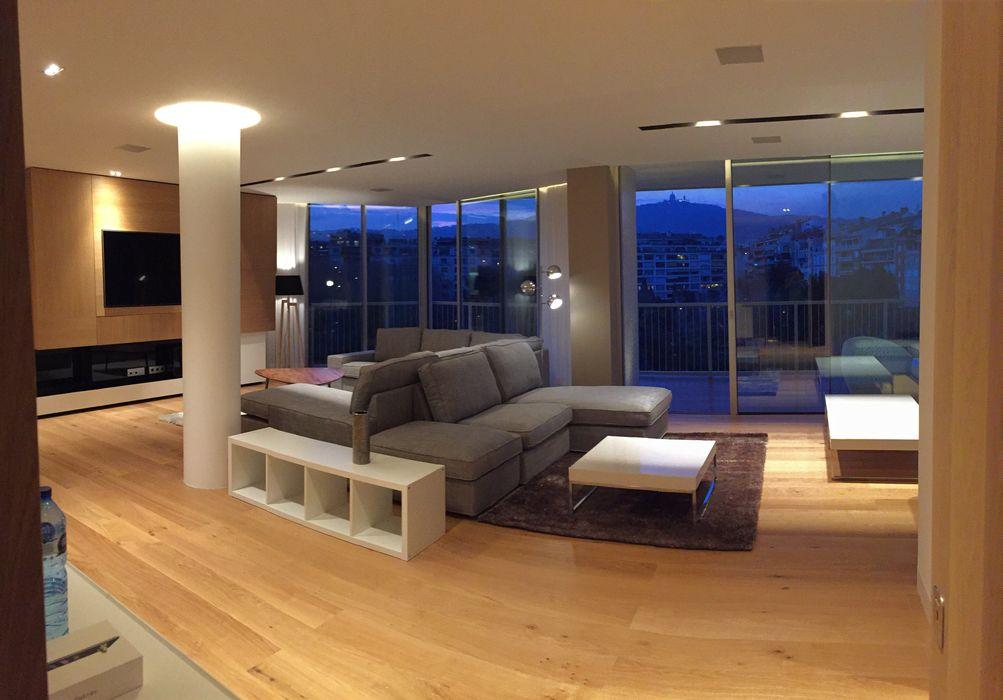Foto interior de salon comedor GARLIC arquitectos Salones de estilo moderno