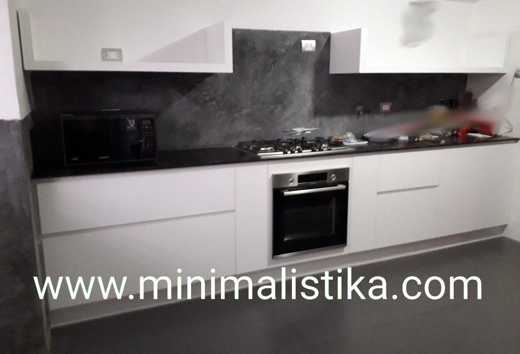 Casas de Playa Minimalista y Mediterráneo - Cocina Minimalistika.com Muebles de cocinas Aglomerado Blanco