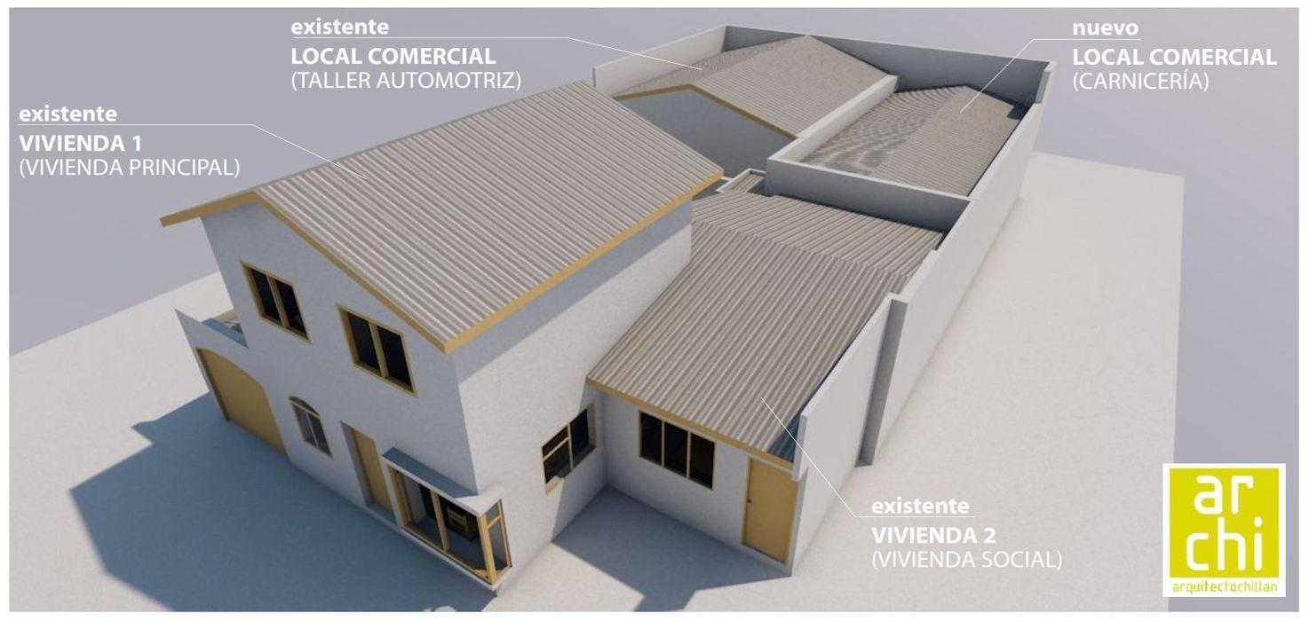 ARQUITECTO CHILLAN EIRL Commercial Spaces Reinforced concrete